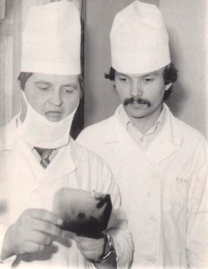 Слева направо: А.В.Ткаченко, В.М.Редров. Фото 1985 г.