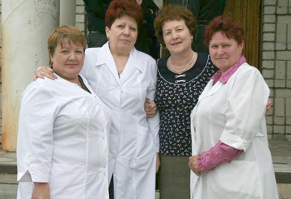 Слева направо: В.А.Машина, Т.В.Полякова, Г.Ф.Попова, Н.С. Арямнова.