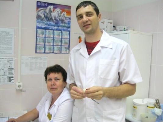 Слева направо: Н.Е.Дырова и Д.Ю.Голиков