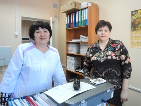 Слева направо: Н.В.Зенкова и С.Н.Матвеева