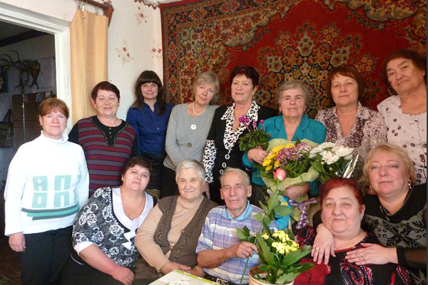 На юбилее у Марии Степановны Смыковской. Фото 2013 г.