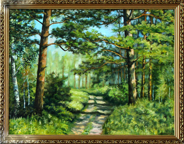 Владимир Шляндин. «В лесу». х.м.
