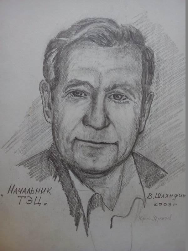 Начальник ТЭЦ, 2009 г., бумага, грифель